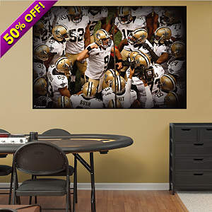 New Orleans Saints Team Mural Fathead Wall Decal
